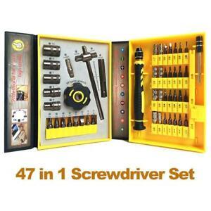 47 Mini Screwdriver Set Bits Multi Small Precision Hex Torx Star Repair Tool UK