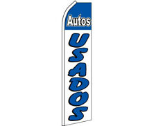 AUTOS USADOS Used Cars Swooper Banner Feather Flutter Bow Tall Curved Top Flag