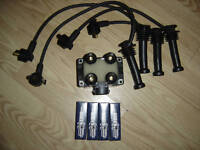 FORD MONDEO MK1 1.6 1.8 2.0 1992-96 NEW IGNITION COIL  PACK HT LEADS & PLUGS