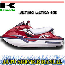 KAWASAKI JET SKI ULTRA 150 WORKSHOP SERVICE REPAIR & OWNER'S MANUAL ~ DVD