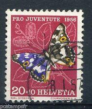 SUISSE - 1956, timbre 583, PAPILLON PETIT-MARS CHANGEANT, oblitéré
