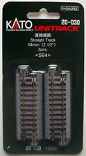 """Kato 20-030 64mm (2 1/2"""") Straight Track S64 (N scale)"""
