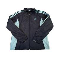 Vintage ADIDAS Womens Jacket UK 18 Large Multicolour Full Zip Light Anorak