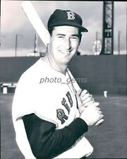 1950s Ted Williams With Bat 8x10 Archival Photo