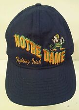 Vintage Notre Dame Fighting Irish Snapback Hat Cap Green Underbrim Embroidered