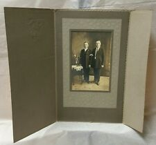 1920s Vintage photo photograph of two (2) young gentlemen lads men in suits