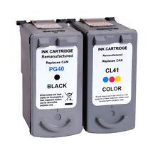 2PKs PG-40 CL-41 Black & Color Ink Cartridges For Canon PIXMA MP140 MP150 MP160