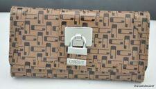Porte-monnaie marron en cuir synthétique pour femme
