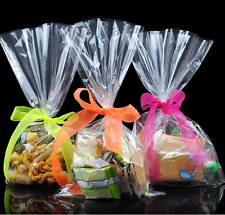 100pcs 12*25 Cm Transparent Bag Cookies Diy Gift Bag For Wedding Party Packaging