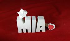Beton, Steinguss Buchstaben 3D Deko Namen Schriftzug MIA als Geschenk verpackt!