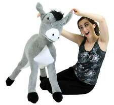 Big Plush Donkey 42 Inch Giant Stuffed Animal Silky Soft Fur Brand New