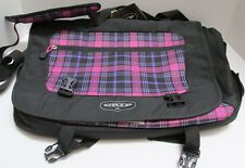 NEW NWT  Pink & Black Punk Plaid   GRIP by High Sierra Back Pack Messenger Bag