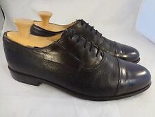 Florsheim made in italy man shoes captoe black brown 9.5 M oxfords