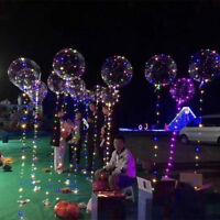 20 inch Luminous Led Balloon Transparent Clear Round Bubble Christmas Decor OU