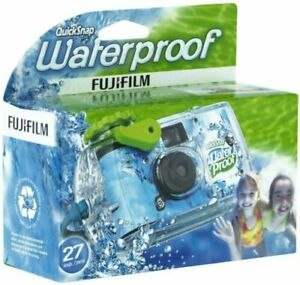 New FujiFilm Disposable Quick Snap Waterproof Camera 27 Exposures Expired 12/19