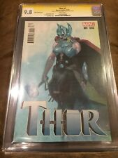THOR #1 CGC 9.8 SIGNED STAN LEE 1ST DAY RELEASE 1:50 RIBIC VARIANT (JANE FOSTER)