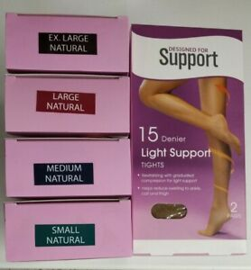 Designed for Support 15 Denier Firm Support Tights Natural Colour Size S/M/L/XL