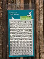 Lawn Fawn Clear Stamp - Calendar. Includes Days, Months, Numbers And Symbols