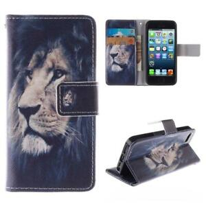 Wallet iPhone Case for Apple iPhone 7 Plus Holder Stand Cover Lion Pattern