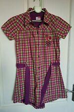 Filles Nom Il Doublé Robe Chemise Âge 7-8 Ans