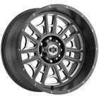 "4-Vision 418 Widow 20x10 6x5.5"" -25mm Gunmetal/Milled Wheels Rims 20"" Inch"