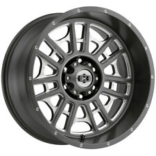 4 Vision 418 Widow 20x10 6x55 25mm Gunmetalmilled Wheels Rims 20 Inch Fits More Than One Vehicle