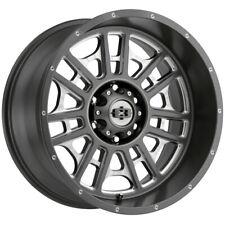 4 Vision 418 Widow 20x10 6x55 25mm Gunmetalmilled Wheels Rims 20 Inch Fits Ram