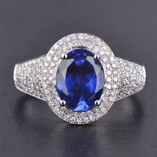 2,65Kt 585er Weiß Gold Natürlich Tansanit EGL Zertifiziert Diamant Ring