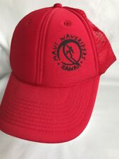 Vintage Maui Waveriders Surf Hawaii Red Trucker Mesh Foam Hat Snapback Otto 32fa4ce0ddac