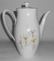 Rorstrand Porcelain China Floral w/Gold Garden Coffeepot