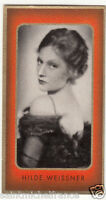 HILDE WEISSNER ACTRESS ACTRICE GERMANY DEUTSCHLAND ALLEMAGNE IMAGE CARD 30s