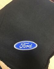 Black  Fleece Blanket With Embroidered Ford Style  Logo