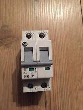 Allen Bradley AB 4 Amp Type C Circuit Breaker Mcb 2 Double Pole 1492-SP