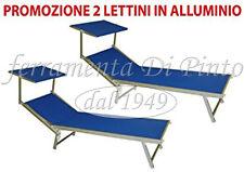 2 Lettino Mare Prendisole Spiaggia Professionale Certificato Alluminio PISCINA