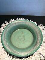 Vintage Wine Bottle Coaster Artisan Studio Stoneware Pottery , Signed