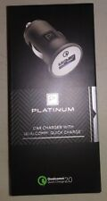 NEW PLATINUM CAR CHARGER QUALCOMM QUICK CHARGE 2.0 BACKWARDS COMPATIBLE  G-19