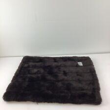 Tiger Dreamz Faux Fur Pet Blanket Chocolate Brown Soft Mat