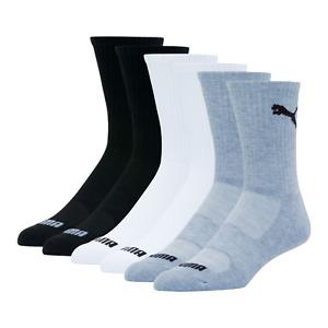 PUMA Men's Crew Socks (6 Pack) Size: 8-13