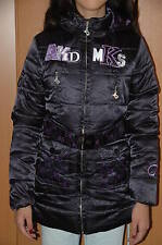 NEW Girls Belted Jacket With Hood  Coat Black AKDMKS Size 14