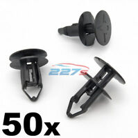50x 8mm Push Fit Plastic Clips- Renault Kadjar Grille & Wheel Arch Lining Clips