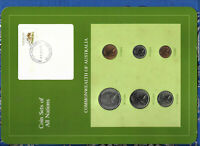 Coin Sets of All Nations Australia UNC 50,20,10,5,2,1 cent 1982 20JAN1983