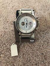 Men's Vestal Plexi Chronograph, 5ATM - in White & Silver 49 mm case