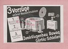 GÖRLITZ, Werbung 1931, Zentrifugen-Bau Rowag
