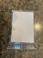 """Stand Up Acrylic Picture Frame 5"""" x 7"""" Clear Back Photo or Ad Top or Side Load"""
