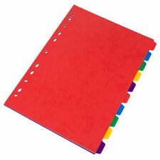 5 A4 Ring Binder File Index Subject Dividers 10 Part Multi-punched Folder Cards