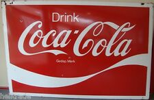 EMAIL SCHILD - COCA-COLA - DRINK COCA COLA - GEDEP. MERK * EMAILLESCHILD *