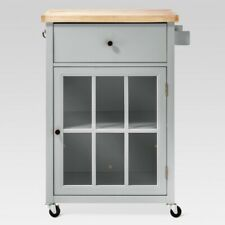 Windham Wood Top Kitchen Cart Gray Threshold Brand New Furniture TARGET