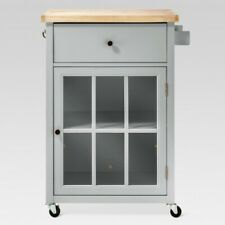 Windham Wood Top Kitchen Cart Gray Threshold Brand New Furniture TARGET