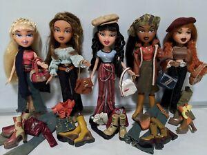 MGA Bratz lot - 5 New Season Xpress It dolls, Yasmin Meygan Jade Sasha Cloe set