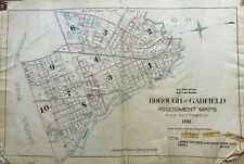 1911 GARFIELD NEW JERSEY BERGEN COUNTY INDEX PAGE ATLAS MAP
